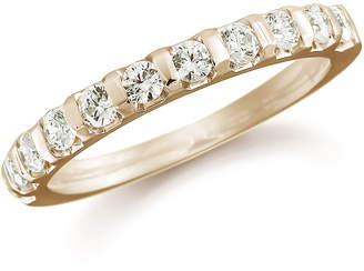 18ct Yellow Gold 0.50ct Bar Set Half Eternity Ring