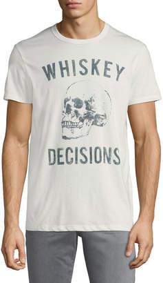 Chaser Men's Whiskey Decisions Skull Crewneck Short-Sleeve Jersey Tee