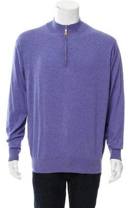 Peter Millar Silk-Blend Half-Zip Sweater