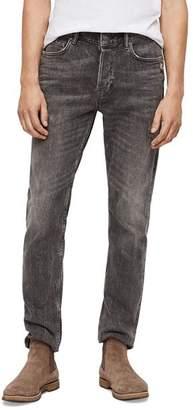 AllSaints Rex Straight Slim Jeans in Gray