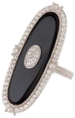 Judith Ripka Sterling Silver Westport Eloganted Oval Stone Ring