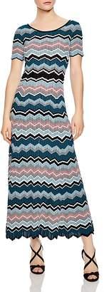 Sandro Rone Geo-Stripe Knit Dress