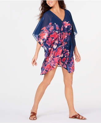 5d41de50a3 Calvin Klein Printed Drawstring Caftan Cover-Up Women Swimsuit