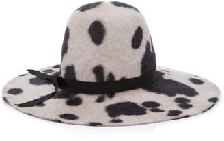 Gigi Burris Aliyah Printed Rabbit Fur Felt Hat
