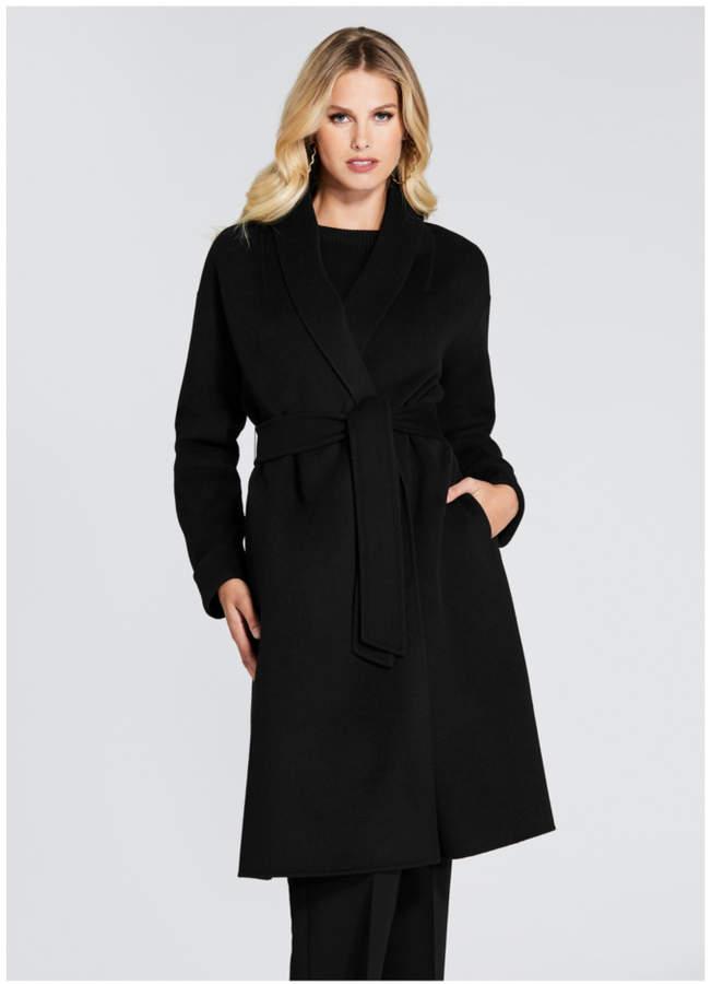 Guess Chic Draped Wool Coat