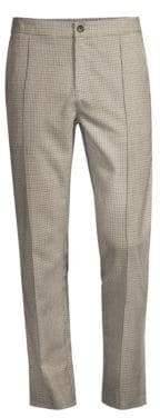 Ovadia & Sons Sideline Plaid Wool Track Pants