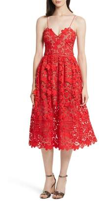 Self-Portrait Azaelea 3D Lace Fit & Flare Dress