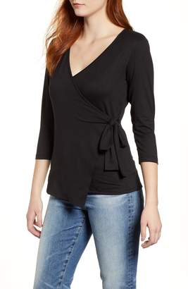 Bobeau Butter Faux Wrap Top