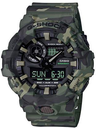 Casio Mens Analog Green Camo G Shock GA700 Watch