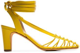 2a4a86d9b58 Maryam Nassir Zadeh canary yellow Maribel strappy leather sandals