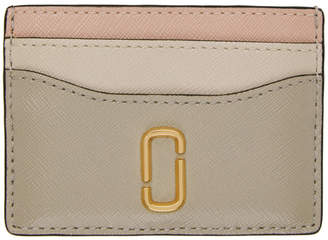 Marc Jacobs Beige and Pink Snapshot Card Holder