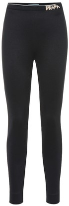 Prada Technical jersey leggings