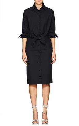 A PLAN APPLICATION Women's Self-Tie Cotton Shirtdress - Navy