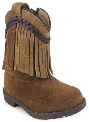 SMOKY MOUNTAIN Smoky Mountain Girl's Hopalong Fringe Side Zipper Cowboy Boot Toddler