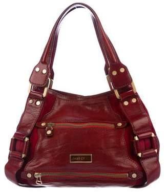 Jimmy Choo Patent Mahala Shoulder Bag