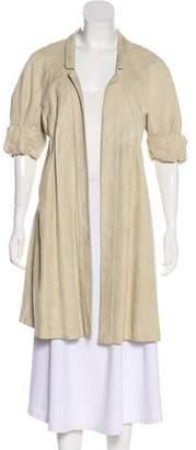 J. Mendel Suede Notch-Lapel Short Coat