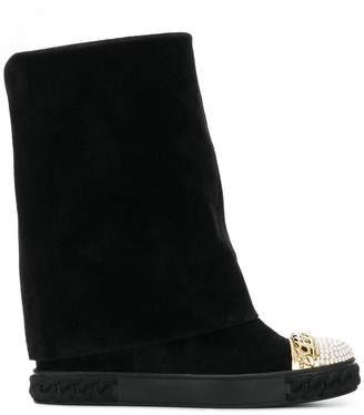 Casadei pearl embellished Chaucer boots