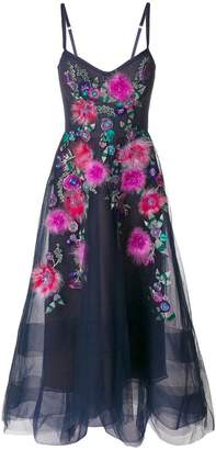 Marchesa floral embellished gown