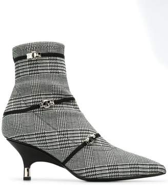 Giuseppe Zanotti houndstooth ankle boots