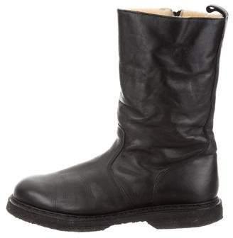 Balmain Leather Tall Boots