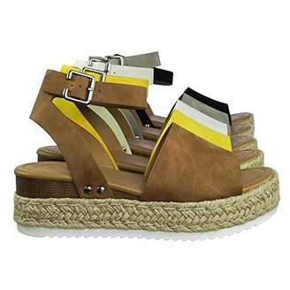 bbc3a3066db1 Soda Sunglasses Women s Open Toe Ankle Strap Espadrille Sandal