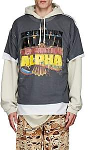 "Vetements Men's ""Generation Alpha"" Cotton Oversized T-Shirt - Dark Gray"