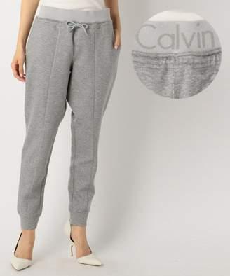 Calvin Klein (カルバン クライン) - Calvin Klein women 【UNISEX / 洗える】ロゴジャガードスウェット パンツ(C)FDB