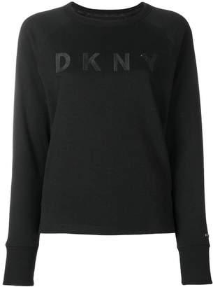 Donna Karan (ダナ キャラン) - Donna Karan logo embroidered sweatshirt