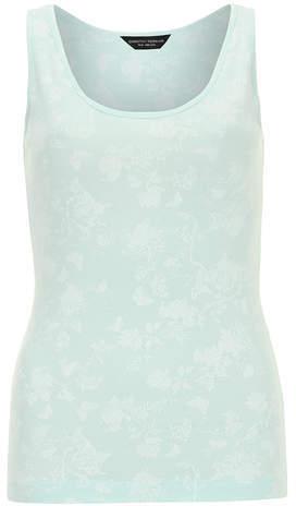 Dorothy Perkins Mint butterfly print vest