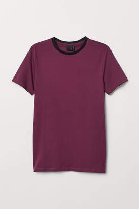 H&M Muscle Fit T-shirt - Pink