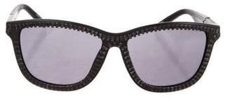Alexander Wang x Linda Farrow Zipper Wayfarer Sunglasses