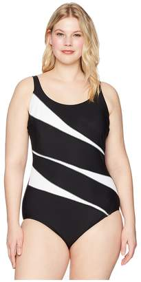 Miraclesuit Plus Size Solids Helix One-Piece Women's Swimsuits One Piece