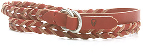 Nixon The Get it Skinny Braided Belt in Oxblood