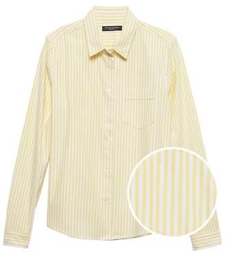 Banana Republic Petite Quinn-Fit Stripe Oxford Shirt