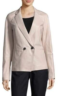 at Saks Fifth Avenue Lafayette 148 New York Brant Leather Blazer