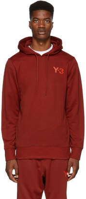 Y-3 Red Classic Logo Hoodie