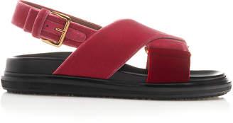 Marni Fussbett Velvet Slingback Sandals