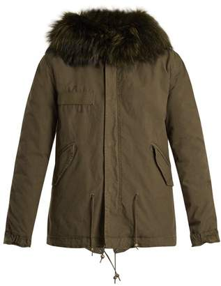 Mr & Mrs Italy Fur-lined cotton-canvas mini parka
