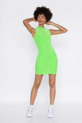 Nasty Gal Come Bright in Velour Dress