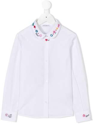 Dolce & Gabbana embroidered collar shirt