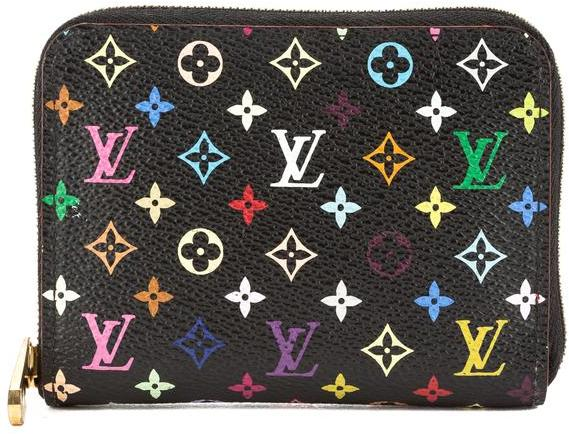 Louis VuittonLouis Vuitton Black Monogram Canvas Multicolore Zippy Coin Purse (Pre Owned)