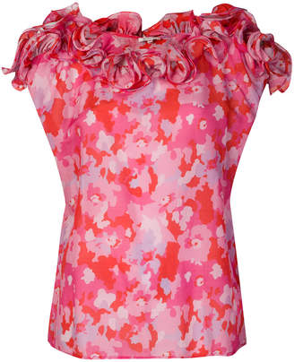 Manoush camouflage rose print top