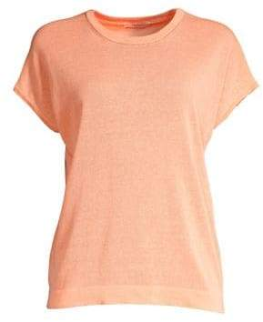 Peserico Linen-Blend Short-Sleeve Sweater