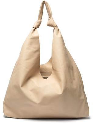 The Row Bindle Leather Tote - Womens - Cream
