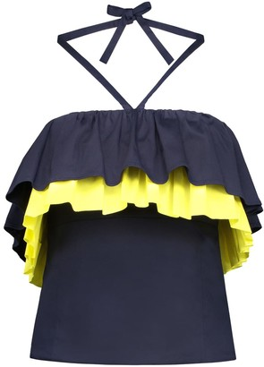 The Endless Summer Blonde Gone Rogue Top In Navy Blue