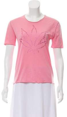 Lucien Pellat-Finet Short Sleeve Embellished Top