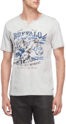 Buffalo David Bitton Split V-Neck Graphic Tee