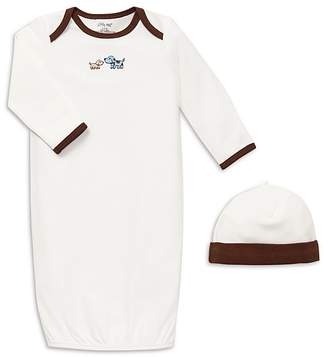 Little Me Boys' Cute Puppies Gown & Hat - Baby