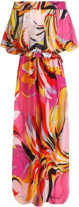 Emilio Pucci Printed Cotton And Silk-blend Woven Coverup