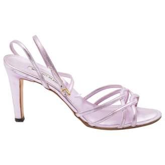 Manolo Blahnik Pink Leather Sandals
